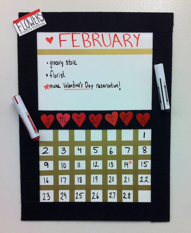 Final DIY Calendar How To